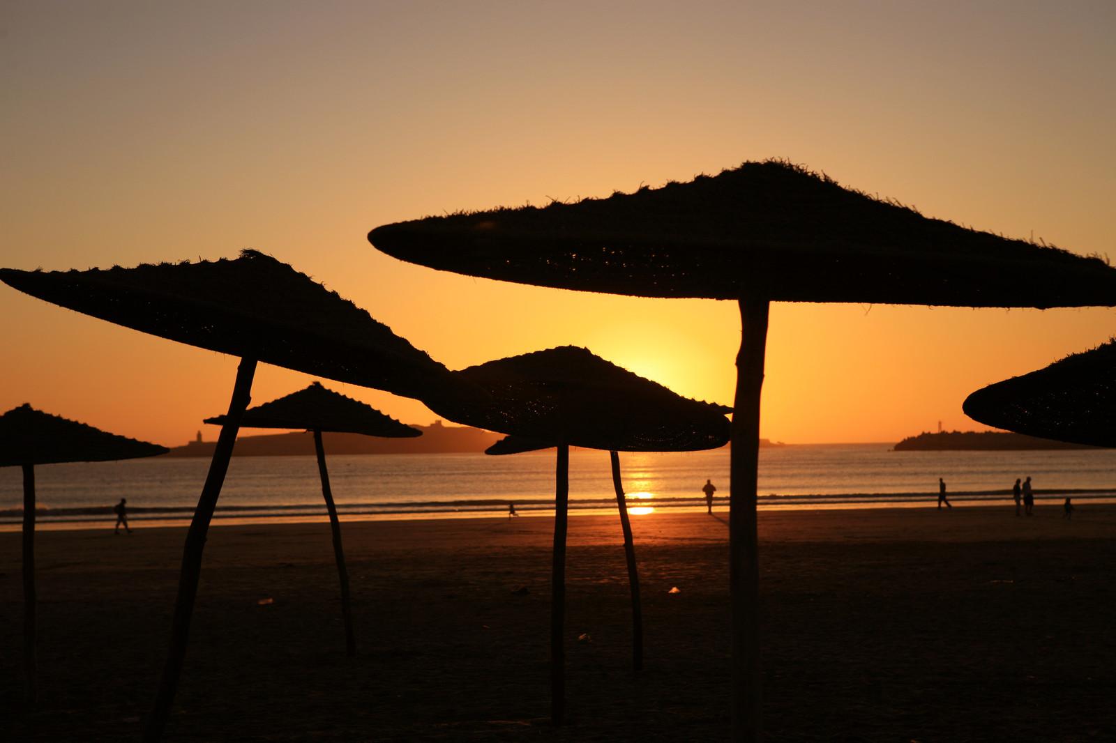 Sunset on the beach; Essaouira, Morocco