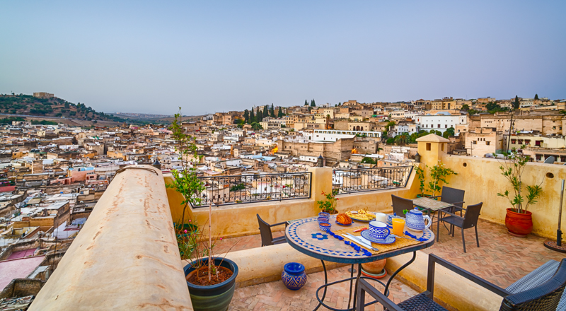 riad overlooking fes