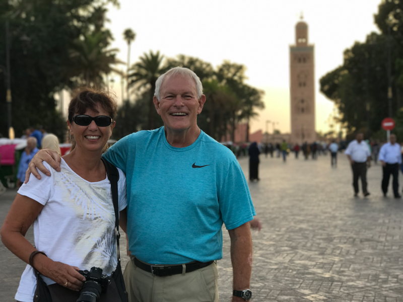 tourists enjoying safety of morocco